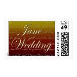 June sunset wedding postage