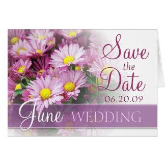 June Wedding - Lavender Daisies Greeting Cards