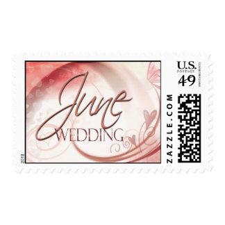June Wedding Postage Stamp