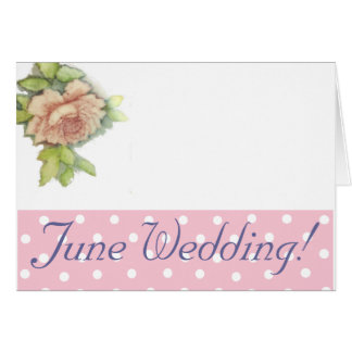 June Wedding Save The Date Invitation-Customize Card