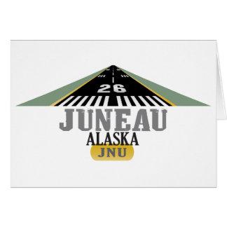 Juneau Alaska - Airport Runway Card