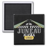 Juneau Alaska - Airport Runway Refrigerator Magnets