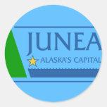 Juneau, Alaska, Estados Unidos señala por medio de Etiquetas Redondas