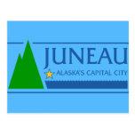 Juneau, Alaska, Estados Unidos señala por medio de Tarjeta Postal