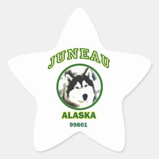 Juneau Alaska Pegatina En Forma De Estrella