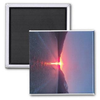 Juneau, Alaska, puesta del sol Imán De Frigorifico