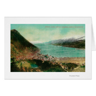 Juneau, Alaska Town View with Treadwell Mine in Card