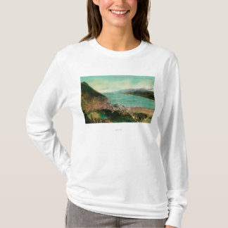 Juneau, Alaska Town View with Treadwell Mine in T-Shirt