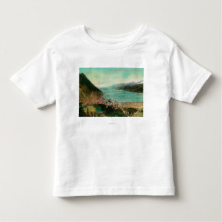 Juneau, Alaska Town View with Treadwell Mine in Toddler T-shirt