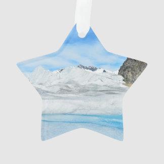 Juneau area glaciers ornament
