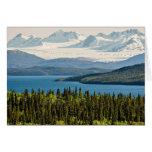 Juneau Icefield del lago Atlin (espacio en blanco  Felicitacion