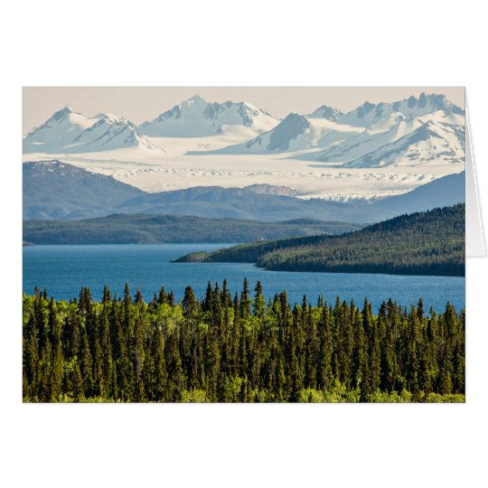 Juneau Icefield from Atlin Lake (Blank Inside) Card