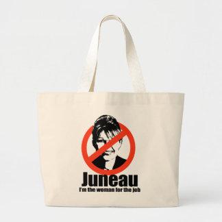 Juneau I'm the woman for the job Jumbo Tote Bag