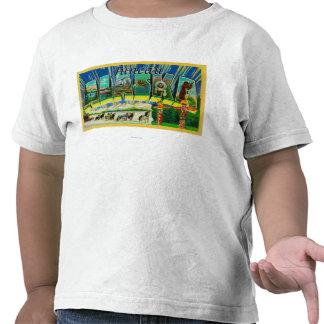 Juneau, letra ScenesJuneau, AK de AlaskaLarge Camisetas