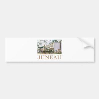 Juneau Old Witch Totem Nugget Shop Bumper Sticker
