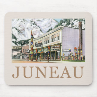 Juneau Old Witch Totem Nugget Shop Mouse Pad