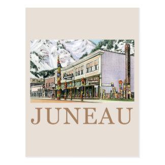Juneau Old Witch Totem Nugget Shop Postcard