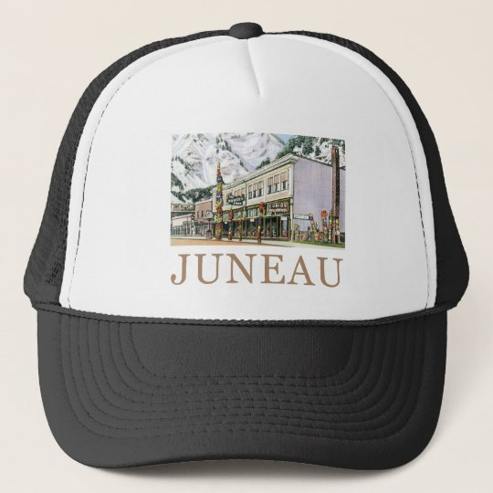 Juneau Old Witch Totem Nugget Shop Trucker Hat