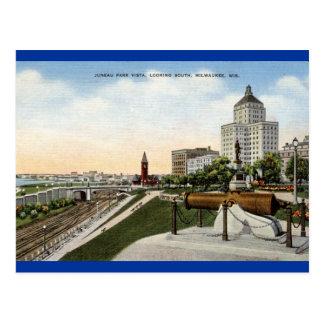 Juneau Park Milwaukee Wisconsin Vintage Post Card