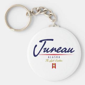 Juneau Script Keychain