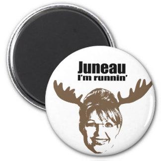 Juneau soy runnin imán redondo 5 cm