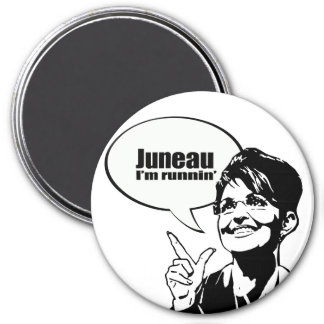 Juneau soy runnin imán redondo 7 cm