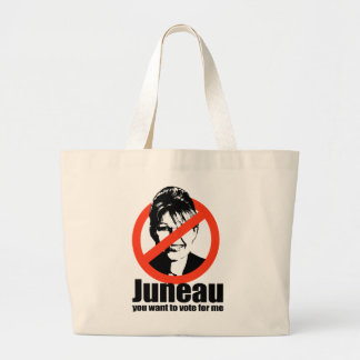 Juneau you want to vote for me jumbo tote bag
