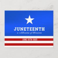 Juneteenth a Celebration of Liberation Invitation Postcard