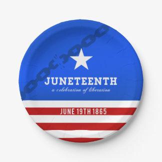 Juneteenth a Celebration of Liberation Paper Plate
