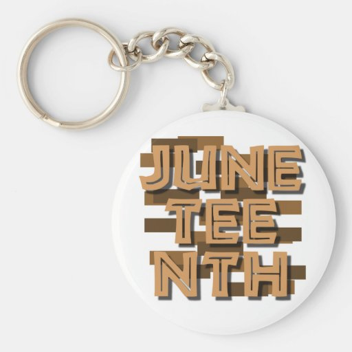JUNETEENTH BASIC ROUND BUTTON KEYCHAIN