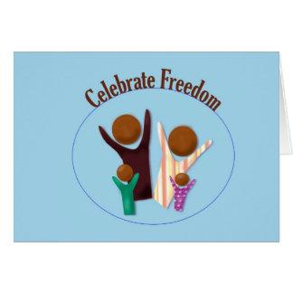 Juneteenth Celebrate Freedom Card