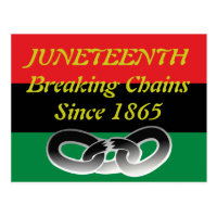 Juneteenth celebration post card