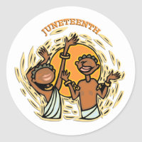 Juneteenth Classic Round Sticker