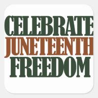 Juneteenth freedom square sticker