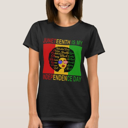 Juneteenth Independence Day Afro Lady Shirt