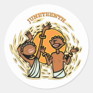 Juneteenth Round Sticker