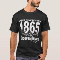 Juneteenth shirt - WHITE