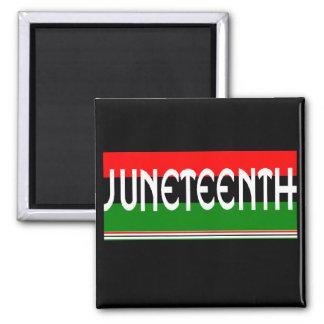 Juneteeth Imán Cuadrado