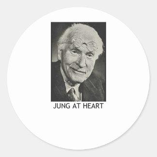 Jung en el corazón pegatinas