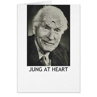 Jung en el corazón tarjeta de felicitación