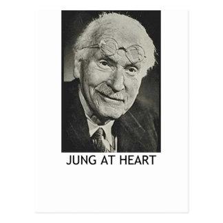 Jung en el corazón tarjeta postal