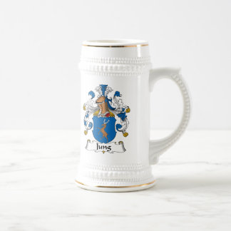 Jung Family Crest Mugs