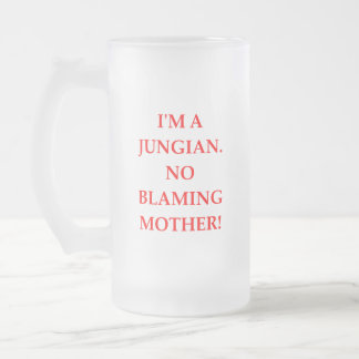 JUNG FROSTED GLASS BEER MUG