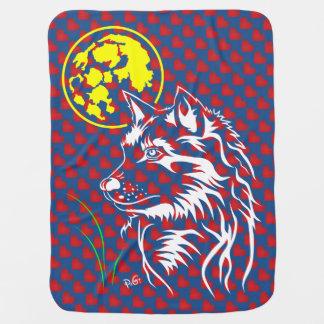 junger träumender Wolf Baby-Decke