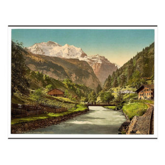 Jungfrau and Lauterbrunnen, Bernese Oberland, Swit Postcards