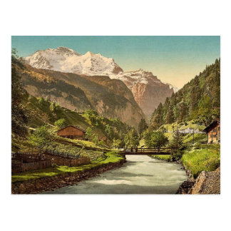 Jungfrau and Lauterbrunnen, Bernese Oberland, Swit Post Cards