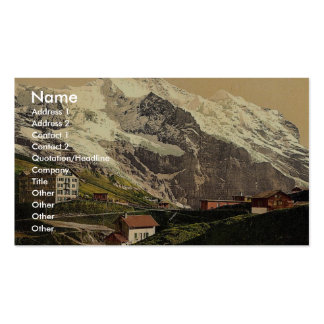 Jungfrau and Scheidegg, Bernese Oberland, Switzerl Double-Sided Standard Business Cards (Pack Of 100)