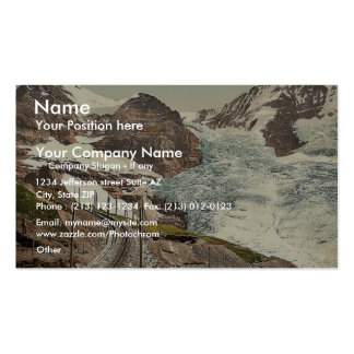 Jungfrau, ferrocarril, Eiger y Monch, con Eiger Gl Tarjeta De Negocio