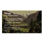 Jungfrau, Monch and Eiger Mountains, Bernese Oberl Double-Sided Standard Business Cards (Pack Of 100)