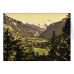 Jungfrau, Monch and Eiger Mountains, Bernese Oberl Greeting Card